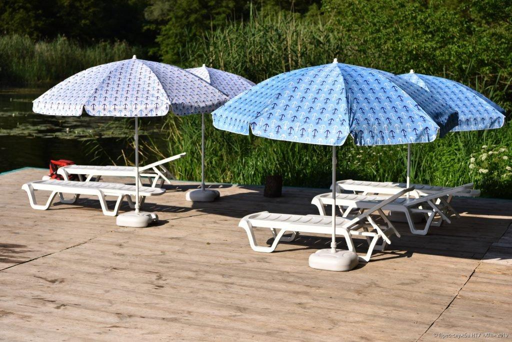 Обладнаний пляж - відпочинок табір НТУ ХПІ