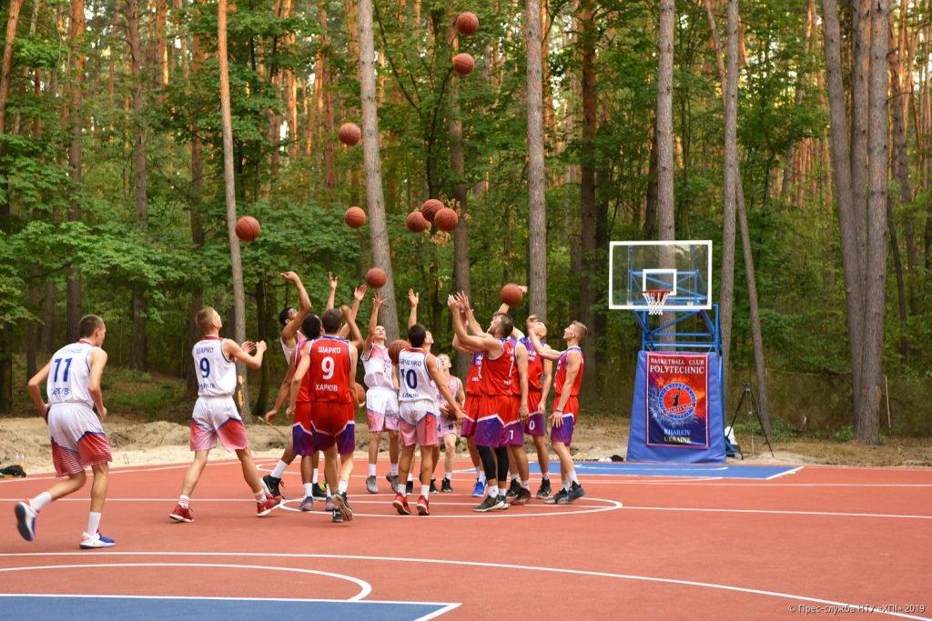 Товариська гра між баскетбольними командами - відпочинок табір НТУ ХПІ